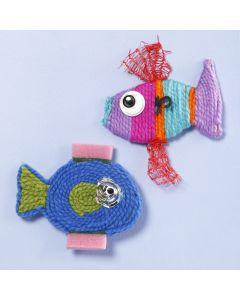 Langasta ja muoviroskista tehty kala