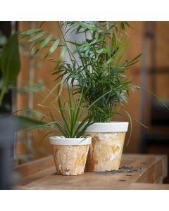 Marmoroitu bambukuidusta tehty kukkaruukku