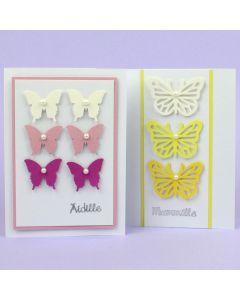 Kesäiset perhoskortit