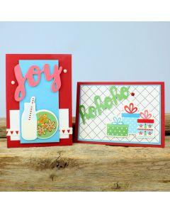 Hauskat joulukortit kartonkikoristeista