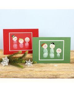 Hauskat lumiukkokortit