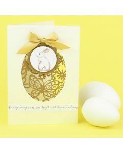 Pitsikartonki pääsiäiskortissa