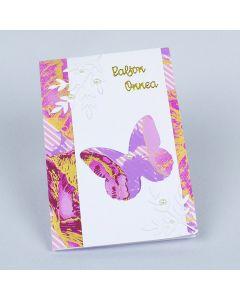 Värikäs perhoskortti