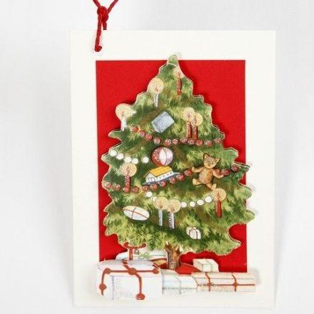 3D-joulukuusikortti