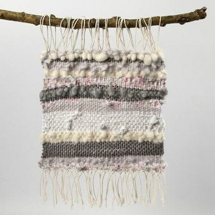Tekstiilikoriste puuvillalangasta, villasta ja kangaskaistaleista
