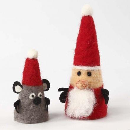 Neulahuovutetut jouluhahmot