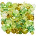 Särmähelmet, koko 4-12 mm, aukon koko 1-2,5 mm, glitter vihreä, 250 g/ 1 pkk
