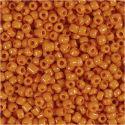 Rocaille-siemenhelmet, halk. 3 mm, koko 8/0 , aukon koko 0,6-1,0 mm, oranssi, 25 g/ 1 pkk