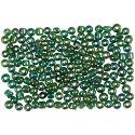 Rocaille-siemenhelmet, halk. 3 mm, koko 8/0 , aukon koko 0,6-1,0 mm, vihreä öljy, 500 g/ 1 pkk