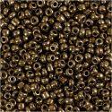 Rocaille-siemenhelmet, halk. 3 mm, koko 8/0 , aukon koko 0,6-1,0 mm, pronssi, 25 g/ 1 pkk