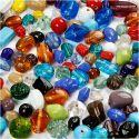 Lasihelmilajitelma, koko 7-18 mm, aukon koko 1 mm, värilajitelma, 1000 g/ 1 pkk