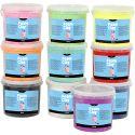 Foam Clay®, kimalle, värilajitelma, 10x560 g/ 1 pkk
