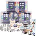 Luokkapakkaus Silk Clay® silkkimassoja hahmojen tekoon, 1 set