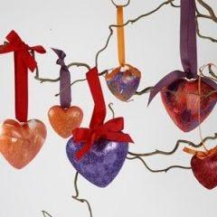 Helppotekoiset sydänkoristeet