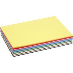 Värillinen kartonki, A4, 210x297 mm, 180 g, värilajitelma, 30 laj/ 1 pkk