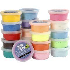 Silk Clay® silkkimassa, värilajitelma, 20x40 g/ 1 pkk