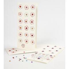 Värikäs leimailtu kortti