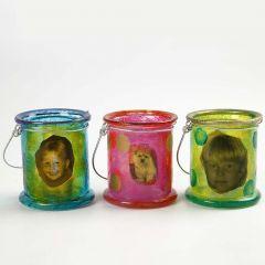 Tuikkulyhdyt maalattu A-Color Glass väreillä
