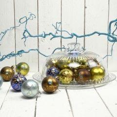 Kullatut joulupallot