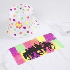 T-paita koristeltu Neon Textil Color väreillä