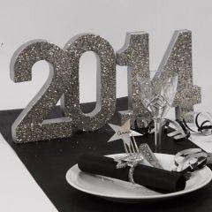 Kimaltavat pöytäkoristeet uudenvuoden juhliin