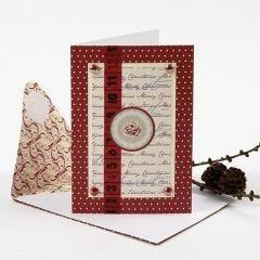 Vivi Gade design- sarjan tuotteilla koristeltu joulukortti