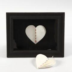 3D-sydän käsintehdystä paperista
