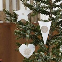Joulukoristeita kuultopaperi kuvioista