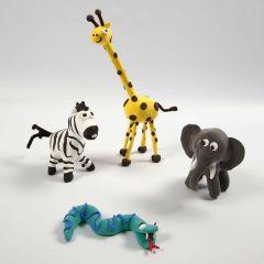 Afrikan eläimet silkkimassasta