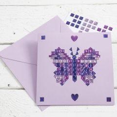 Mosaiikkitarroilla koristeltu kortti