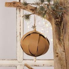 Joulupallo nahkapaperisuikaleista