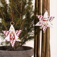 Joulutähti  pähkinänsärkijä-kuviopaperista