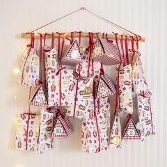 Joulukalenteri erilaisista taittelurasioista ja paperipusseista.