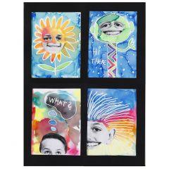Vesivärimaalauksia Aqua Paint markereilla ja valokuvilla