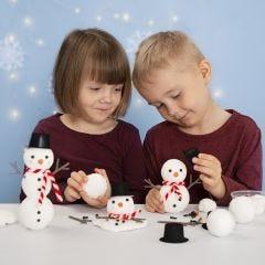 Tee lumiukko styroxista ja Foam Clay:sta