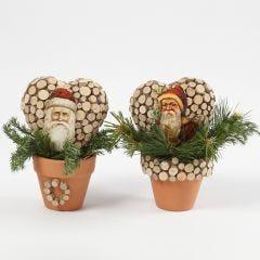 Joulupukkikoriste kukkaruukussa