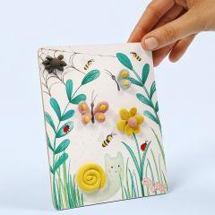 Silk Clay:lla koristeltu kuva