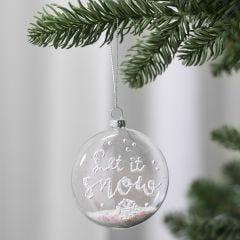 3D lumimassalla koristeltu tasainen joulupallo