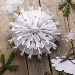 Lumihiutale tähti paperipusseista