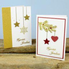 Joulukortit kuviolävistäjillä