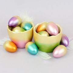 Metallinhohtoiset pääsiäismunat