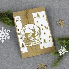 Poroaiheinen lumipallo kortissa