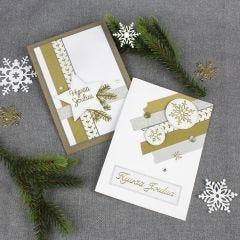 Joulukortteja Washi-teipeistä