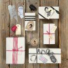 Erilaisia pakettietikettejä lahjoihin