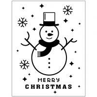 Kohokuviointikansio, lumiukko, halk. 11x14 cm, paksuus 2 mm, 1 kpl