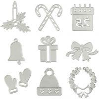 Kuvioterä, joulukuviot, halk. 2-6,5 cm, 1 kpl