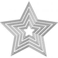 Kuvioterä, tähti, halk. 3,5-11,5 cm, 1 kpl