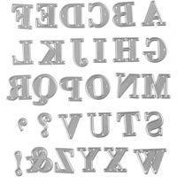 Kuvioterä, aakkoset, koko 2x1,5-2,5 cm, 1 kpl