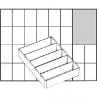 Säilytyslokero, nro A75 Low, Kork. 24 mm, koko 109x79 mm, 1 kpl