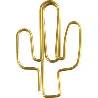 Liittimet, kaktus, koko 40x30 mm, kulta, 6 kpl/ 1 pkk